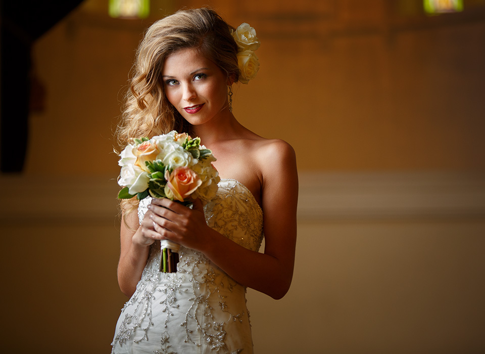 Bridal portrait using Mega JS Apollo in the KelbyOne Light Modifier Bundle